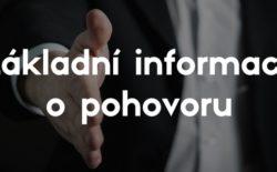 Základní informace o pohovoru