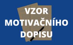 Vzor motivačního dopisu v českém jazyce
